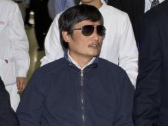 Chen Guangcheng is seen earlier this month in a file photo released by the U.S. Embassy Beijing press office.