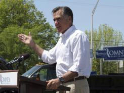 Mitt Romney speaks in Hillsborough, N.H., on May 18.