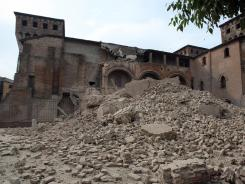 The Castello delle Rocche in Finale Emilia, Italy, sustained damage after an earthquake Sunday.