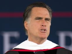 Romney: Speaks at Liberty University's commencement this month in Lynchburg, Va.