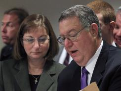 The parents of Tyler Clementi, who committed suicide in 2010, give a statement at the sentencing hearing of Dharun Ravi.