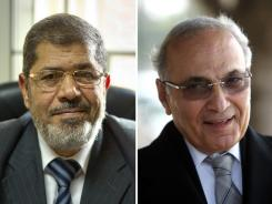 Muslim Brotherhood presidential candidate Mohammed Morsi, left, and former prime minister Ahmed Shafiq appear poised for a runoff in the presidential vote.