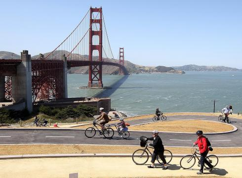 Bike San Francisco Bridge Golden Gate Bridge whose