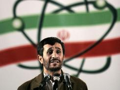 In this 2007 file photo, Iranian President Mahmoud Ahmadinejad speaks at a ceremony in Iran's nuclear enrichment facility in Natanz.