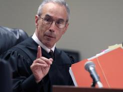 Judge Glenn Berman gives instructions during a sentencing hearing May 21 for Dharun Ravi in New Brunswick, N.J.