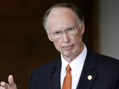 Alabama Gov. Robert Bentley said legislators in his state should wait for the Supreme Court ruling on the health care law before creating an insurance exchange.