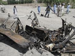 Two would-be suicide bombers were killed when their vehicle exploded prematurely Tuesday in Afghanistan's Nangarhar province.