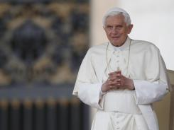 Pope Benedict XVI arrives for the weekly general audience in St. Peter square at the Vatican on May 16.