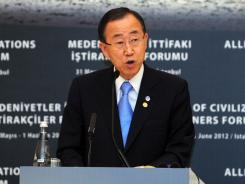 U.N. Secretary-General Ban Ki Moon urged Syria on Thursday to honor its commitment to a peace plan.