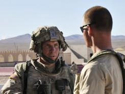 Robert Bales, left, and a platoon sergeant participate in an exercise at the National Training Center at Fort Irwin, Calif.