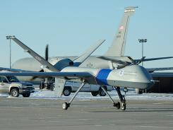 ORG XMIT: SE202 This undated photo provided by U.S. Customs and Border Protection shows an unmanned drone used to patrol the U.S.-Canadian border. The planes, which are based out of North Dakota, are now venturing as far as Eastern Washington on their patrols. (AP Photo/U.S. Customs and Border Protection)