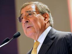 U.S. Secretary of Defense Leon Panetta speaks Saturday during the International Institute for Strategic Studies Asia Security Summit in Singapore.
