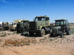 Military surplus vehicles were requisitioned by the Pinal County Sheriff's Office.