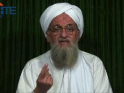 This image from video purports to show al-Qaeda leader Ayman al-Zawahri calling on Muslims Feb. 12 to support Syrian rebels.