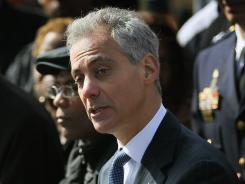 Chicago Mayor Rahm Emanuel announces the results of two investigations that led to gang and drug arrests on the city's westside on March 26. The arrests are part of a gang crack down in Chicago.
