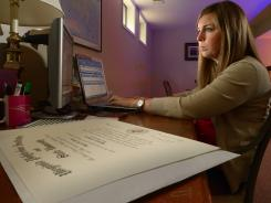 Megan Silsby, a 2012 graduate of Virginia Tech, is looking for a job. Since her graduation in December she has set up an office in her parent's basement and works business hours there actively looking for employment.