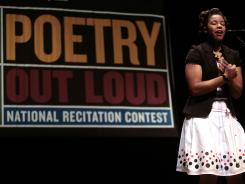 "Rachel Chandler of Ohio recites ""Writ on the Steps of Puerto Rican Harlem"" by Gregory Corso during the first round of Poetry Out Loud at George Washington University in 2008."