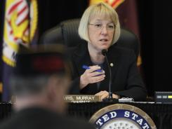 U.S. Sen. Patty Murray, D-Wash., has sharply questioned military and Veterans' Affairs officials over concerns that cost has been a factor in reversing diagnoses of soldiers found to suffer from post-traumatic stress disorder.