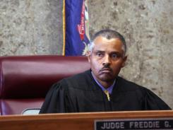 Wayne County Probate Judge Freddie Burton, Jr. appears in his courtroom in Detroit on May 22.