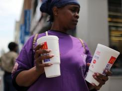 Bloomberg proposal: A 16-ounce cap on bottled drinks and fountain beverages sold at New York City restaurants, movie theaters, sports venues and street carts.