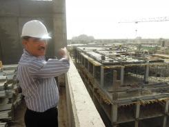 Falah al-Sayegh is the manager of a $100 million construction project to build a shopping mall and luxury hotel in downtown Baghdad.