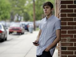 Dylan Young, 18, a senior at North Arlington High, was in a fender-bender accident caused by being distracted while texting and driving.