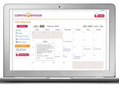 SupportPlanner calendar: It's among the tools on the CaringBridge website.