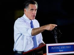 Mitt Romney speaks at an event in St. Louis on Thursday.