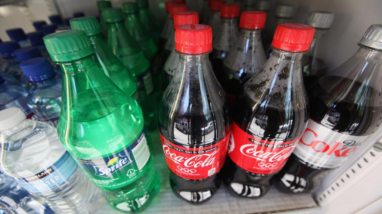 Twenty-ounce bottles of soda are seen for sale at a deli in New York City on May 31. Mayor Michael Bloomberg proposed a ban on sugary drinks that are more than 16 ounces.