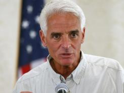 Former Florida governor Charlie Crist speaks at a 2010 meeting of the Florida Press Association.