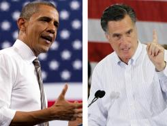 President Obama and Republican presidential candidate Mitt Romney in Boulder, Colo. and Cape Canaveral, Fla.
