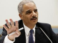 Attorney General Eric Holder testifies before the House Judiciary Committee on June 7.