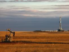 This oil rig in Watford City, N.D., has helped the oil boom in the state.
