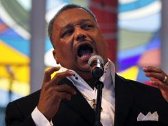 Making history: Fred Luter delivers a sermon at Franklin Avenue Baptist Church in New Orleans.