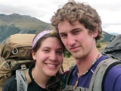 Alec Brown and his girlfriend, Erica Klintworth, walked out of the New Zealand wilderness Sunday. A snowstorm trapped them for nine days.