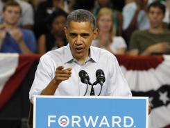 President Obama speaks at a campaign rally in Richmond, Va., on May 5.