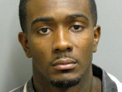Murder suspect Desmonte Leonard was booked into jail on Tuesday.