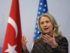 Secretary of State Hillary Rodham Clinton says she's concerned that Russia's move will escalate the conflict.