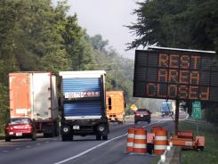 More states are accepting bids on sponsorship rights for rest areas to cope with funding cuts.