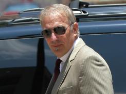 Kevin Costner arrives at a federal court in New Orleans on Thursday.