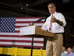 Mitt Romney said Thursday that President Obama's policies have hurt the economy.