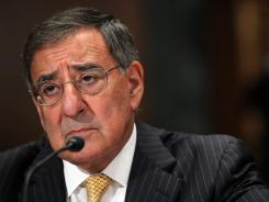 Defense Secretary Leon Panetta testifes during a hearing before the Senate Appropriations Committee on Capitol Hill Wednesday.