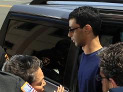 Dharun Ravi, 22, arrives at the Middlesex County sheriff's department in New Brunswick, N.J.