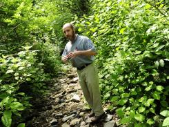 Neal Appelbaum, president of the Stones River Watershed Association, talks about one of the tracts seized in 2006 from a marijuana growing operation on Short Mountain, Tenn.