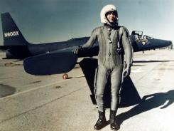Capt. Francis Gary Powers in front of a U-2 reconnaissance plane. Powers was honored posthumously for his service.