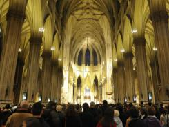 Mass is held at St. Patrick's Cathedral in New York, which as a religious institution is exempt from property taxes.
