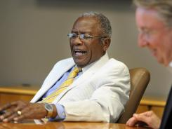 Civil rights attorney Fred Gray, left, and Lipscomb University president Randy Lowry smile during a June 8 interview at the Thomas H. Olbricht Christian Scholars Conference.