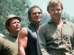 "Ned Beatty, Burt Reynolds and Jon Voigt star in the 1972 motion picture ""Deliverance."""