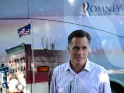Mitt Romney gives a statement to the media in Milford, N.H., on Friday.