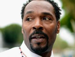 Rodney King, pictured on April 30, was found dead Sunday.